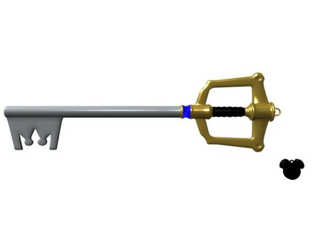 Keyblade Small 3d printed Keyblade in Blender