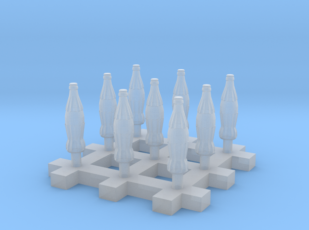 Soda Bottle 9x 20cl/6.7oz 1:58 28mm Scale in Frosted Extreme Detail