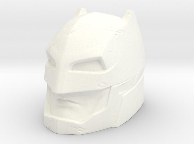 Batman Superpowers 80's Head in White Processed Versatile Plastic