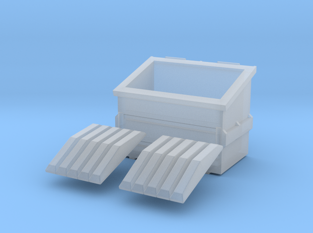 Dumpster 15mm in Smoothest Fine Detail Plastic