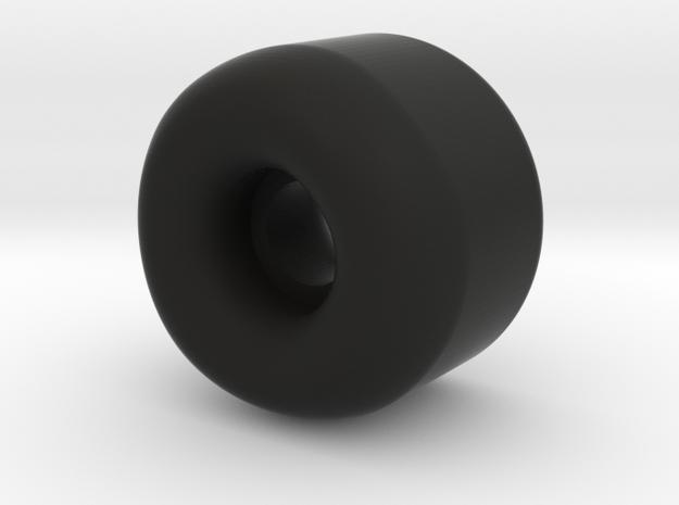 Skate Wheel 2 56mm in Black Natural Versatile Plastic