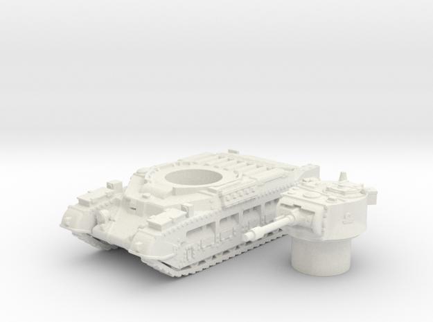 Matilda II tank (British tank)  1/100 in White Natural Versatile Plastic