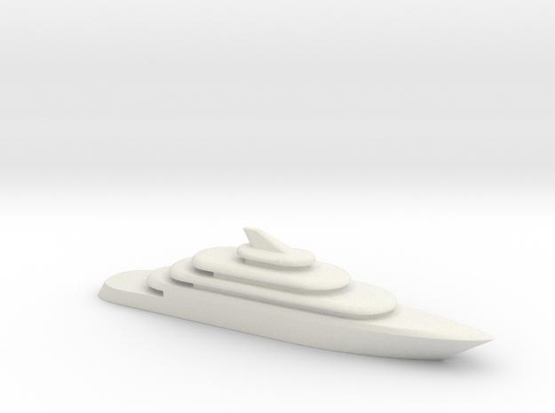 80m Yacht V2 in White Natural Versatile Plastic