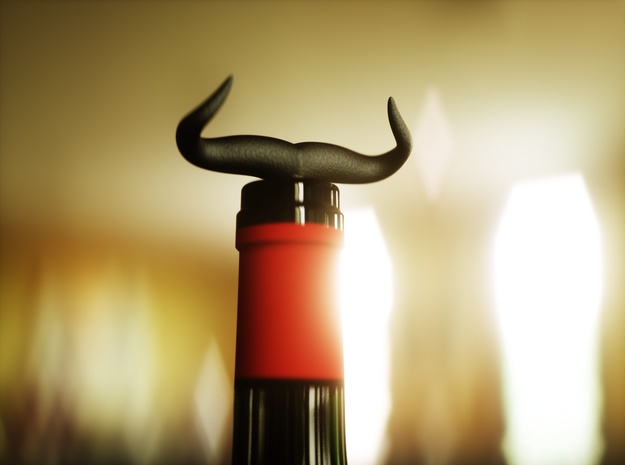 Bullhorn Corkscrew in Matte Black Steel