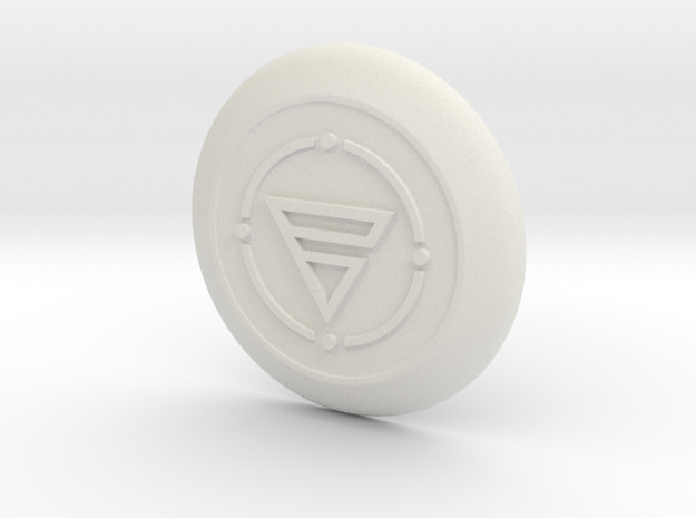 electronic Shield  in White Natural Versatile Plastic