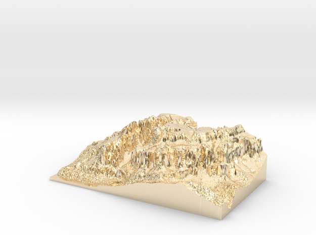 "MyTinyDolomites ""Gruppo Sella"" - Dolomites South M in 14k Gold Plated Brass"