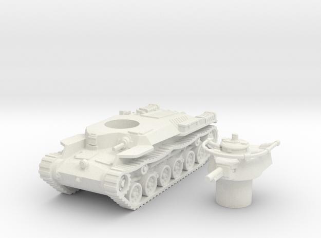 Chi-Ha Tank (Japan)  1/87 in White Natural Versatile Plastic