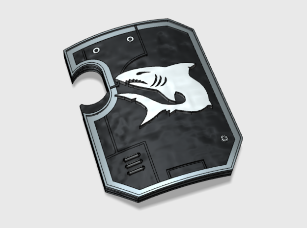 5x Carcharodon - Terminator Wall Shields w/Hand in Frosted Ultra Detail