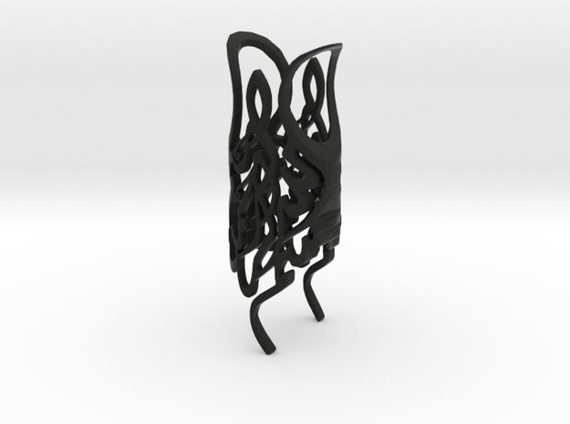 Rose4 in Black Natural Versatile Plastic