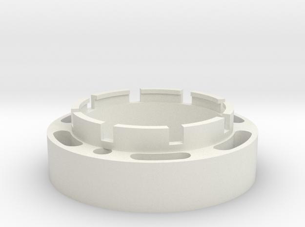 23mm Speaker holder in White Strong & Flexible