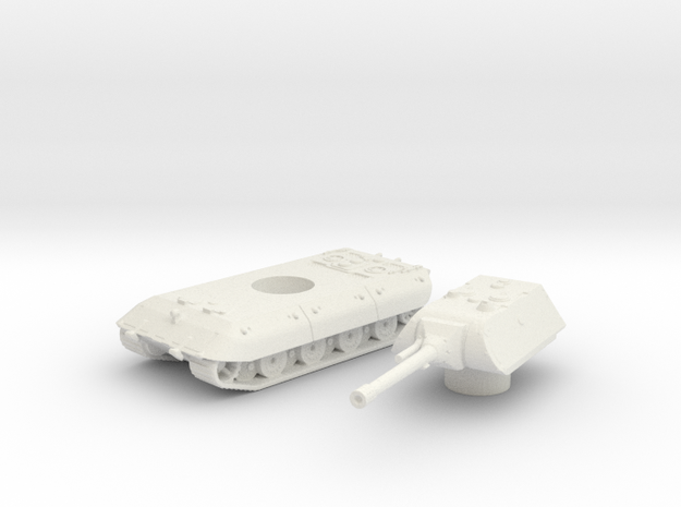 E-100 tank (Germany)  1/200 in White Natural Versatile Plastic