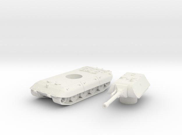 E-100 tank (Germany) 1/100 in White Strong & Flexible