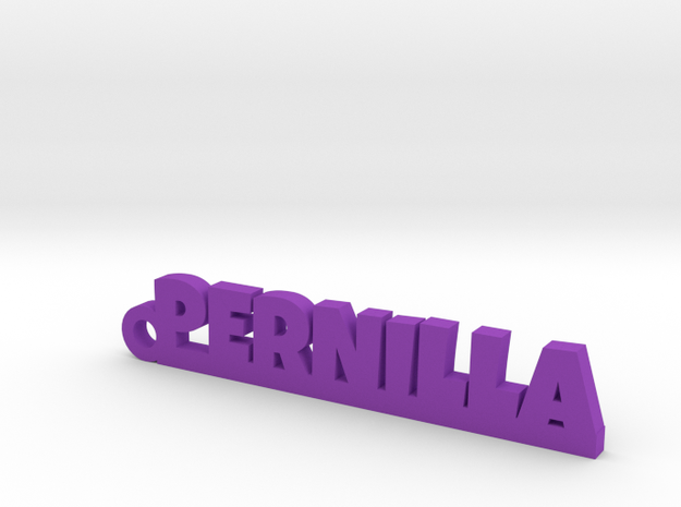 PERNILLA Keychain Lucky in Purple Strong & Flexible Polished