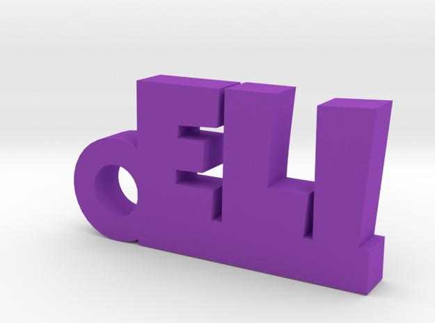 ELI Keychain Lucky in Purple Processed Versatile Plastic