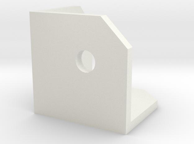 CornerConnectorThin in White Natural Versatile Plastic