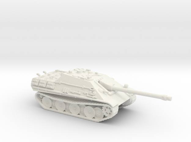 Jagdpanther tank (Germany) 1/87 in White Natural Versatile Plastic