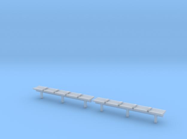 TJ-H04551x2 - bancs de quai 5 places in Smooth Fine Detail Plastic