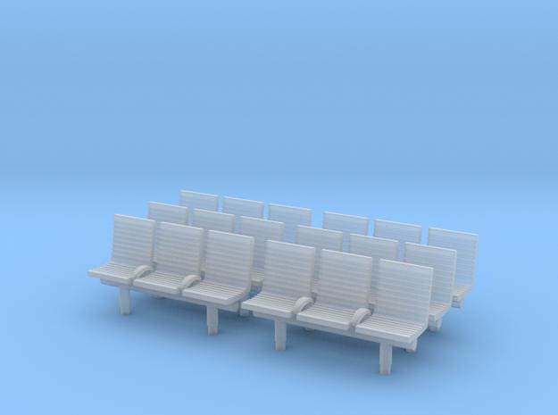 TJ-H04552x6 - bancs de quai 3 places avec dossier in Frosted Ultra Detail