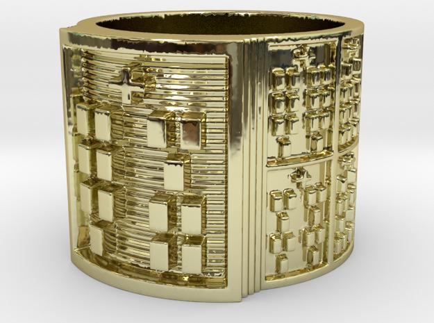 IKAKANA Ring Size 11-13 in 18k Gold Plated Brass: 12 / 66.5