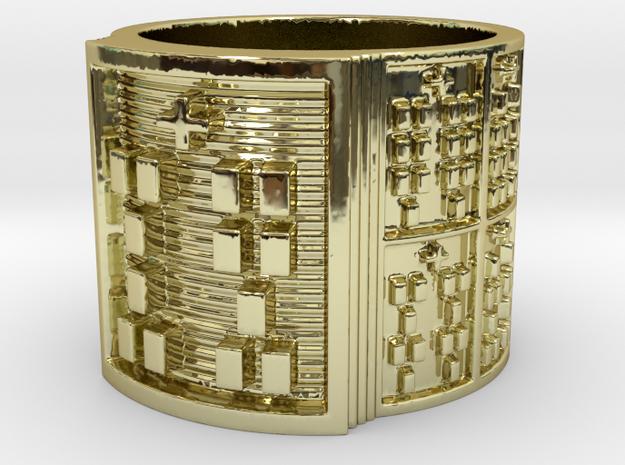 OTRUPONADAKINO Ring Size 11-13 in 18k Gold Plated Brass: 12 / 66.5