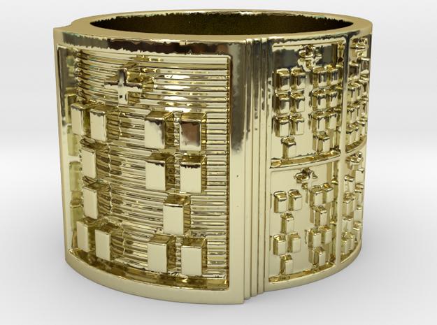 OTRUPONADAKINO Ring Size 13.5 in 18k Gold Plated Brass
