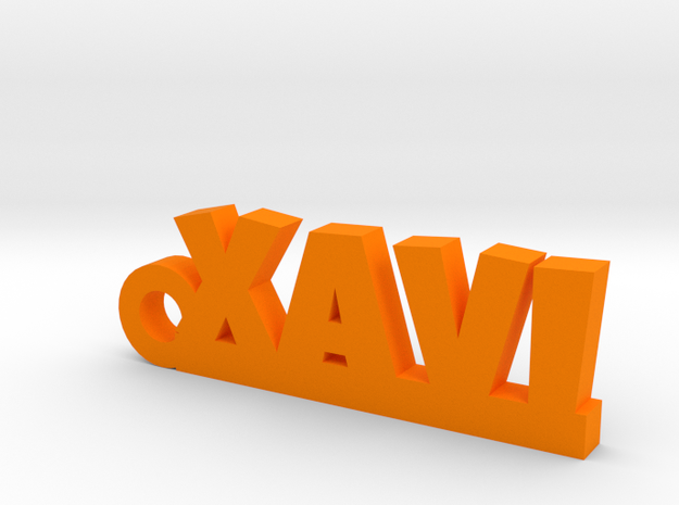 XAVI Keychain Lucky in Orange Processed Versatile Plastic