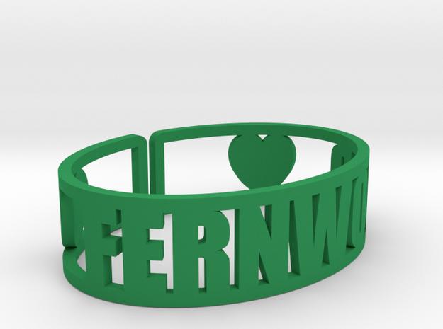 Fernwood Cuff in Green Processed Versatile Plastic