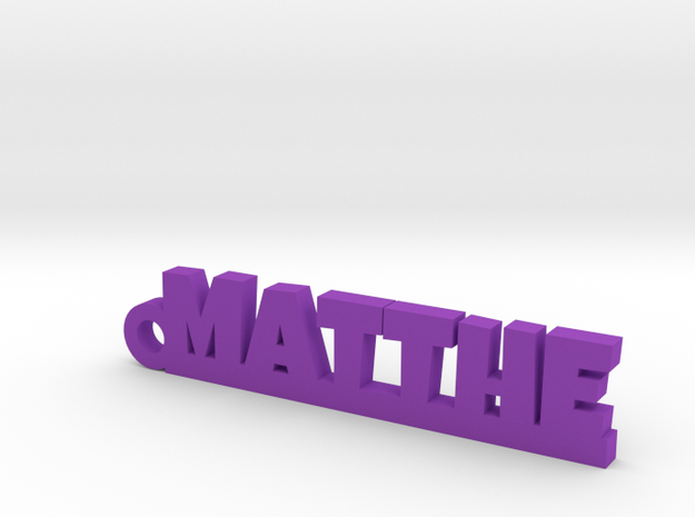 MATTHE Keychain Lucky in Purple Strong & Flexible Polished