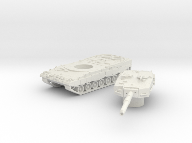 Leopard II tank (Germany) 1/87 in White Natural Versatile Plastic