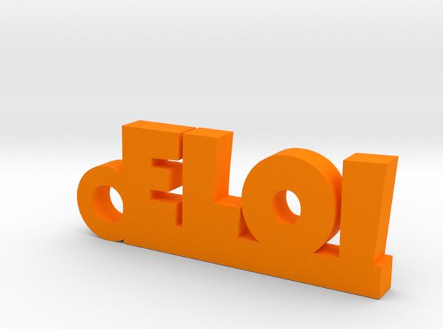 ELOI Keychain Lucky in Orange Processed Versatile Plastic