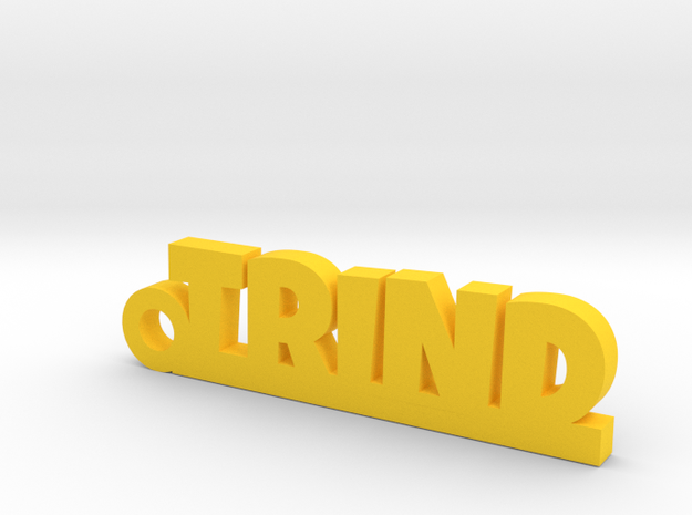 TRIND Keychain Lucky in Yellow Processed Versatile Plastic