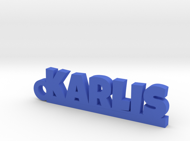 KARLIS Keychain Lucky in Blue Processed Versatile Plastic