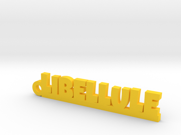 LIBELLULE Keychain Lucky in Yellow Processed Versatile Plastic