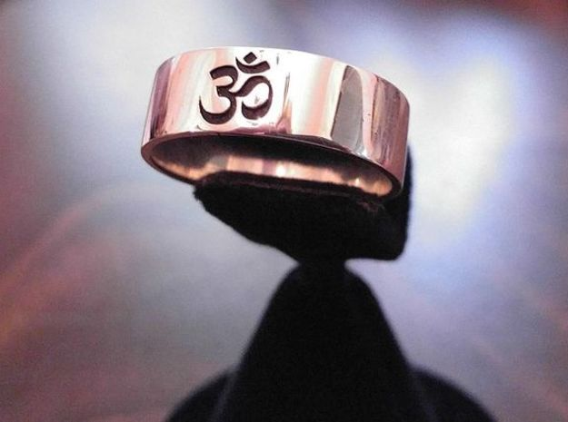 OM Ring - Embossed in Premium Silver
