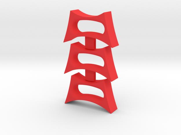 Bean -through fidget spinner insert in Red Processed Versatile Plastic