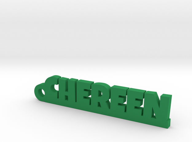 CHEREEN Keychain Lucky in Green Strong & Flexible Polished