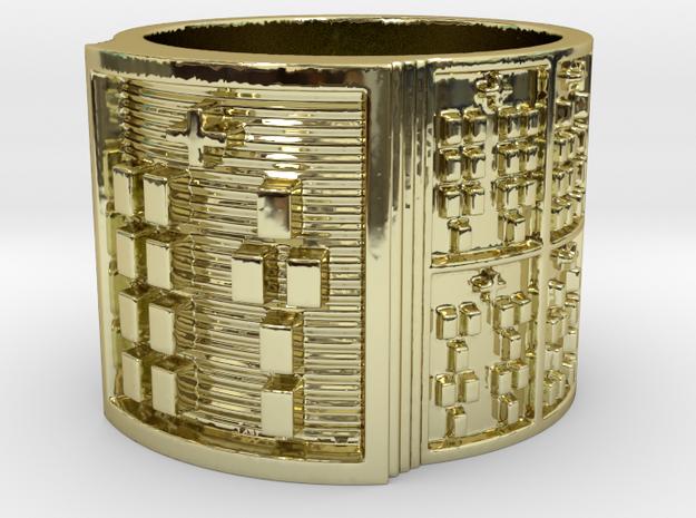 OTURAYEKUN Ring Size 13.5 in 18k Gold Plated Brass