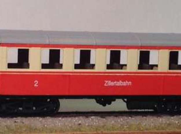 ZB (H0e) - ex-Payerbach Personenwagen B4i 35-38 in Frosted Ultra Detail
