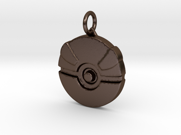 Great ball pendant in Polished Bronze Steel