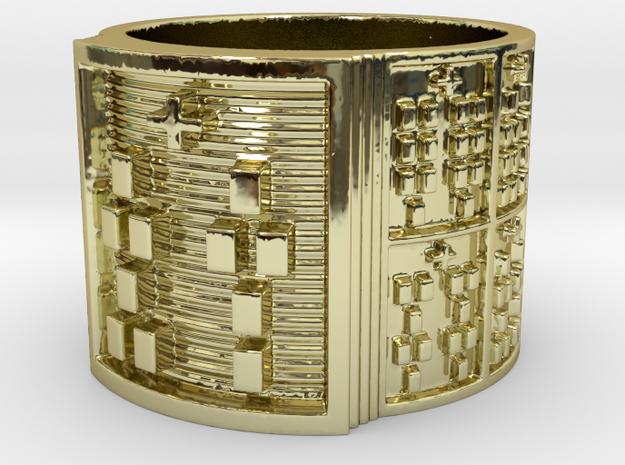 OTURASHE Ring Size 14 in 18k Gold Plated Brass