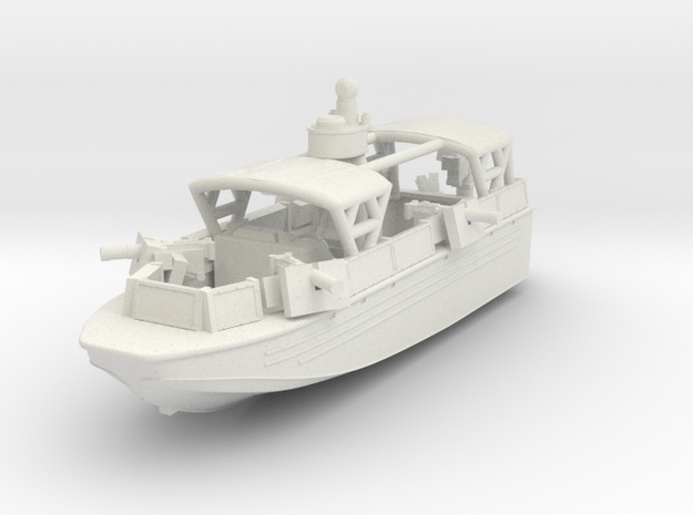 1/144 USN Riverine Assault Boat  (With Canopy and  in White Strong & Flexible