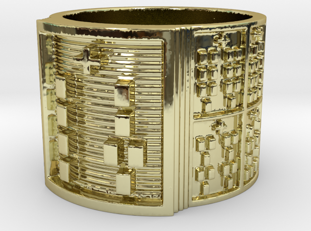 IRETEUNTELU Ring Size 14 in 18k Gold Plated Brass
