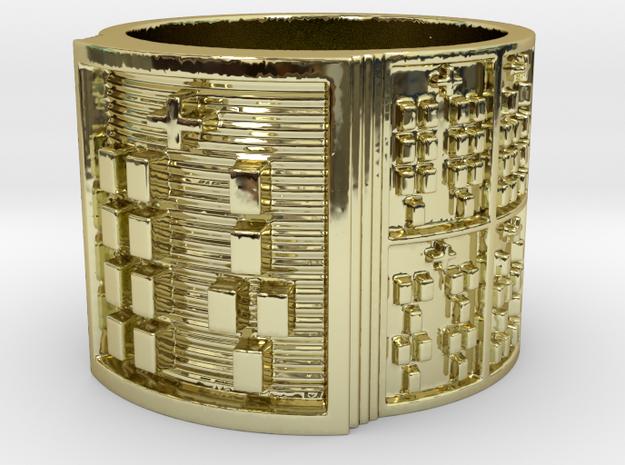 IRETEOYEKUN Ring Size 14 in 18k Gold Plated Brass