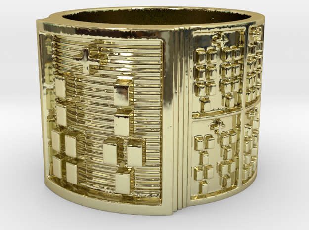 IRETELASO Ring Size 14 in 18k Gold Plated Brass