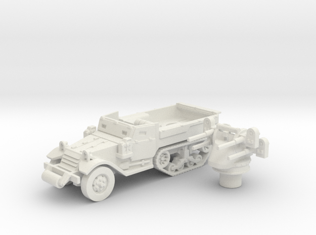 M3 Half-track roller (Usa) 1/87 in White Natural Versatile Plastic