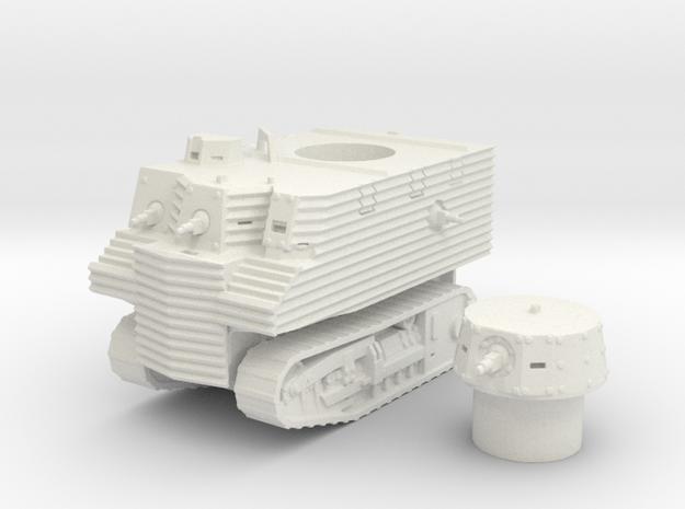 Bob Semple tank (New Zealand) 1/87 in White Natural Versatile Plastic