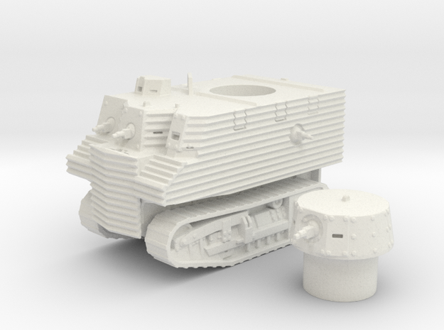 Bob Semple tank (New Zealand) 1/100 in White Strong & Flexible