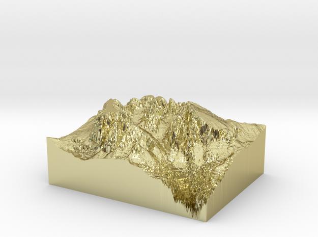 """MyTinyDolomites """"Sasso Lungo e Sasso Piatto"""" (Dolo in 18k Gold Plated"""