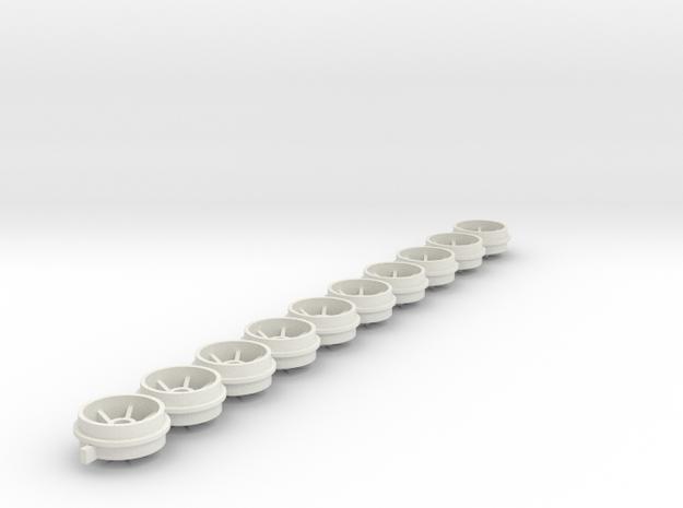 11.5x6.5x2.38 ORing in White Natural Versatile Plastic