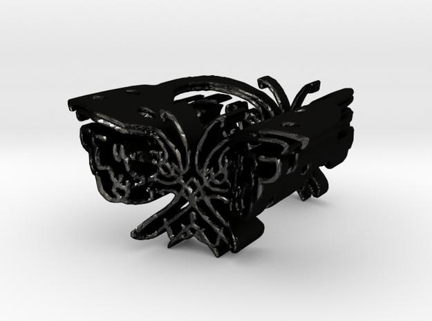 Butterfly Ring Flight in Matte Black Steel
